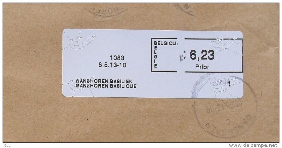 België 2013 Ganshoren Basiliek 1083 - Cijfer 1 - Prior Klein - Logo Bpost (fragment) - Frankeervignetten