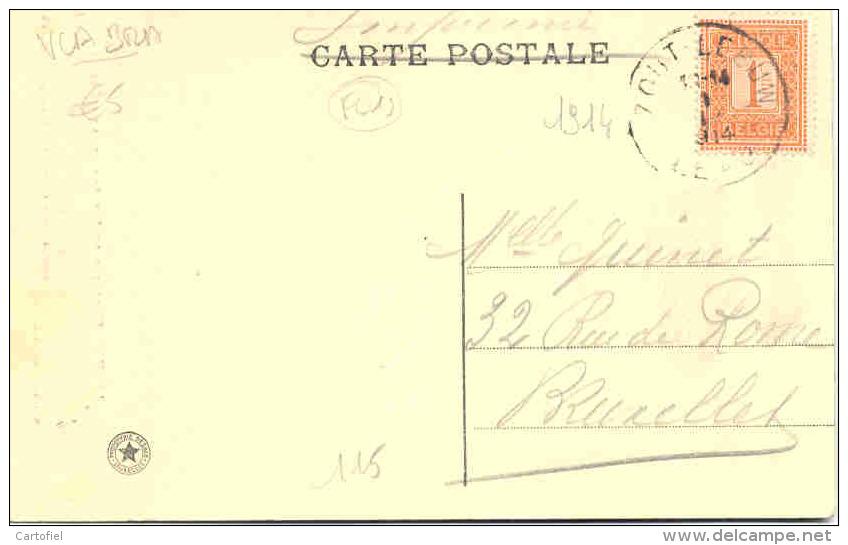 ZOUTLEEUW-LEAU-ST-ANNAKAPEL IN DE KERK-SERIE:LA BELGIQUE HISTORIQUE-PERFEKT VERSTUURD-1914-MOOI-ZIE 2 SCANS! ! ! - Zoutleeuw