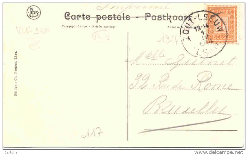 ZOUTLEEUW-LEAU-BINNENZICHT VAN HET KOOR-EDITEUR-CH.PEETERS-VERZONDEN-1914-MOOI -ZIE 2 SCANS! ! ! - Zoutleeuw
