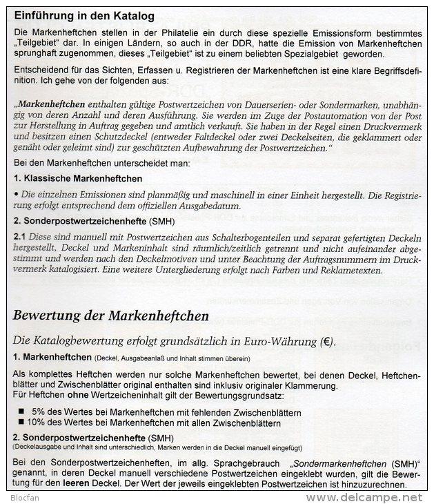 DDR Katalog Teil 2+3 Markenheftchen/SMH 2013 Neu 50€ RICHTER Heftchen Abarten Booklet+error Special Catalogue Of Germany - Dutch