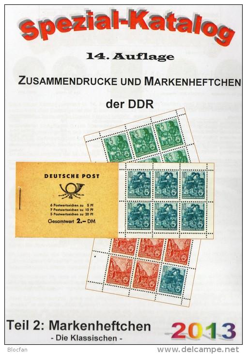 Katalog DDR Zusammendruck+Markenhefte 1-3 RICHTER 2013 New 75€ Zierfelder Se-tenant Booklet Special Catalogue Of Germany - Collections