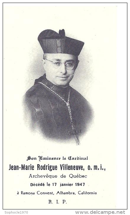 CANADA - QUEBEC - Cardinal Jean-Marie Rodrigue Villeneuve - Ramona Convent Alhambra California - Avvisi Di Necrologio