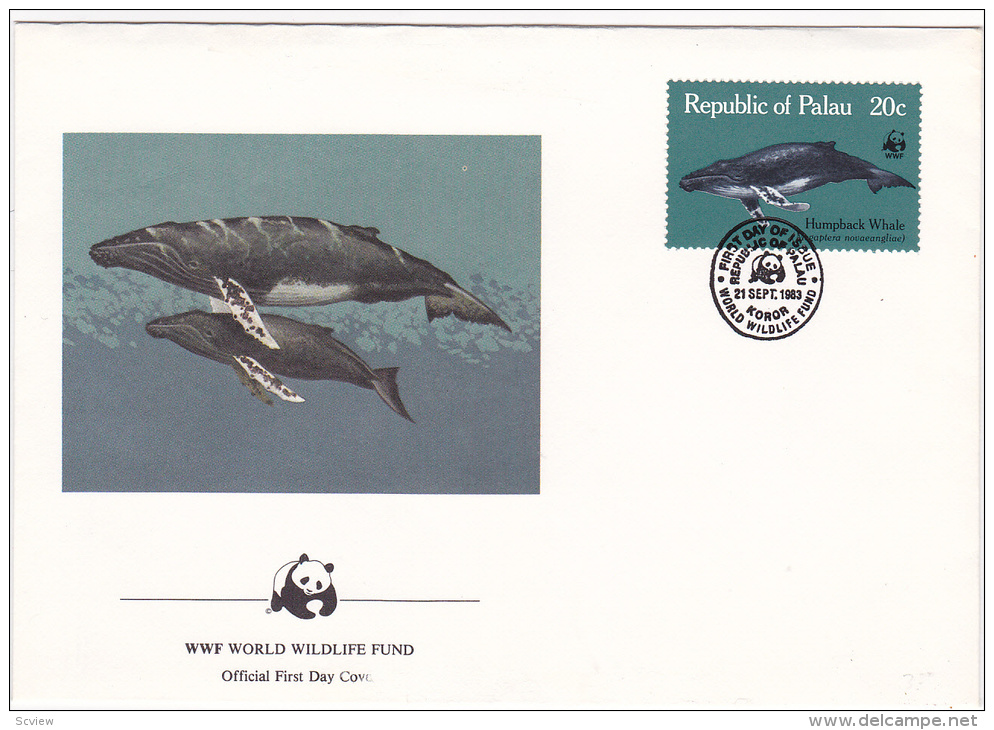Republic Of Palau , 1983 , Humpback Whale ; Official First Day Cover - Palau