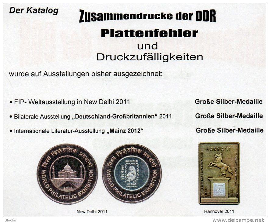DDR Zusammendruck, Markenhefte+ Abarten Katalog 1-4 RICHTER 2013 Neu 100€ Se-tenant Booklet Special Catalogue Of Germany - Deutsch