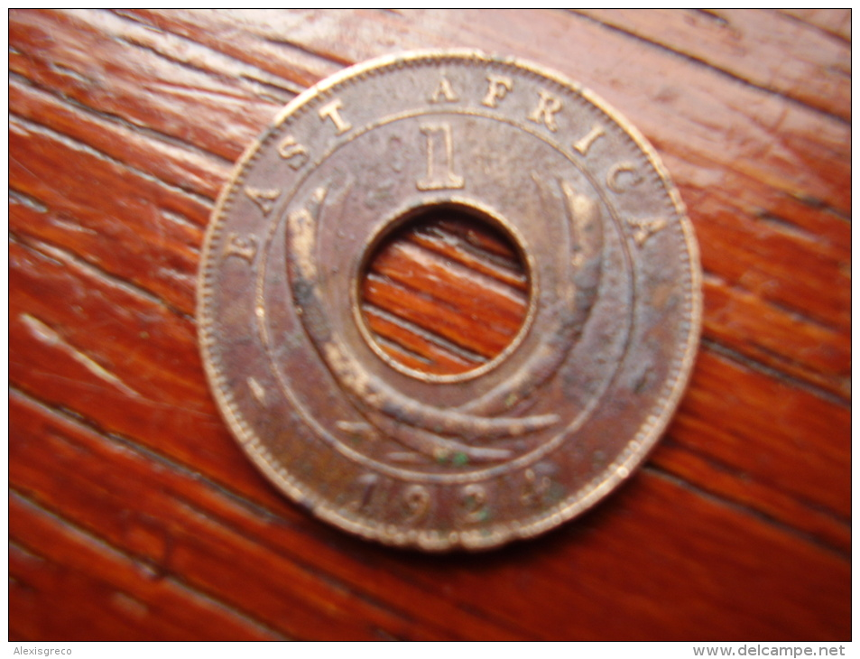 BRITISH EAST AFRICA USED ONE CENT COIN BRONZE Of 1924 KN. - Africa Orientale E Protettorato D'Uganda