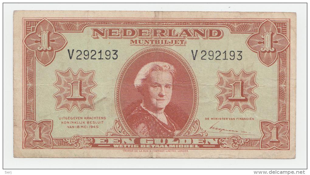 Netherlands 1 Gulden 1945 VF+ P 70 - [2] 1815-… : Kingdom Of The Netherlands