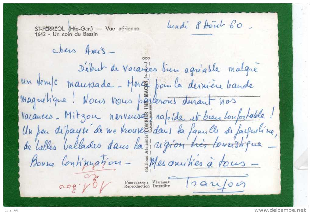 31 ST FERREOL - VUE AERIENNE - PANORAMIQUEUn Coin SUR LE BASSIN - CPM ANNEE 1960 - Saint Ferreol