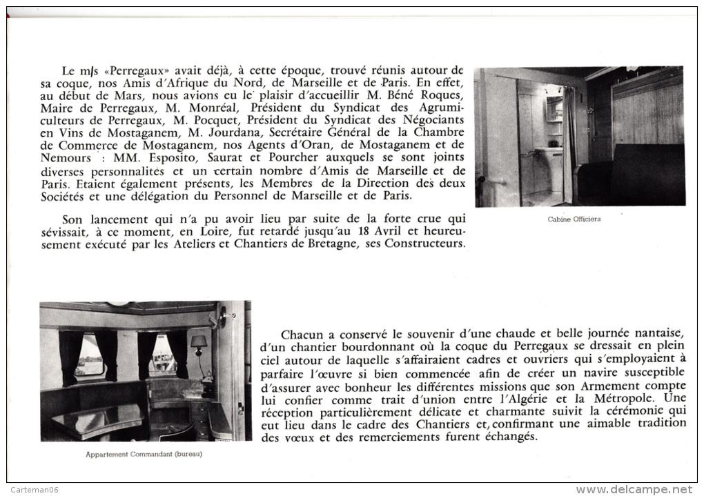 Livret  De 8 Pages - Navire Perregaux, Histoires Et Ses Caractéristiques - Armement Bérengier Et Cie - Boats