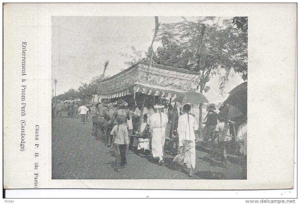CAMBODGE - Enterrement à Pnom-Penh - Cambodia