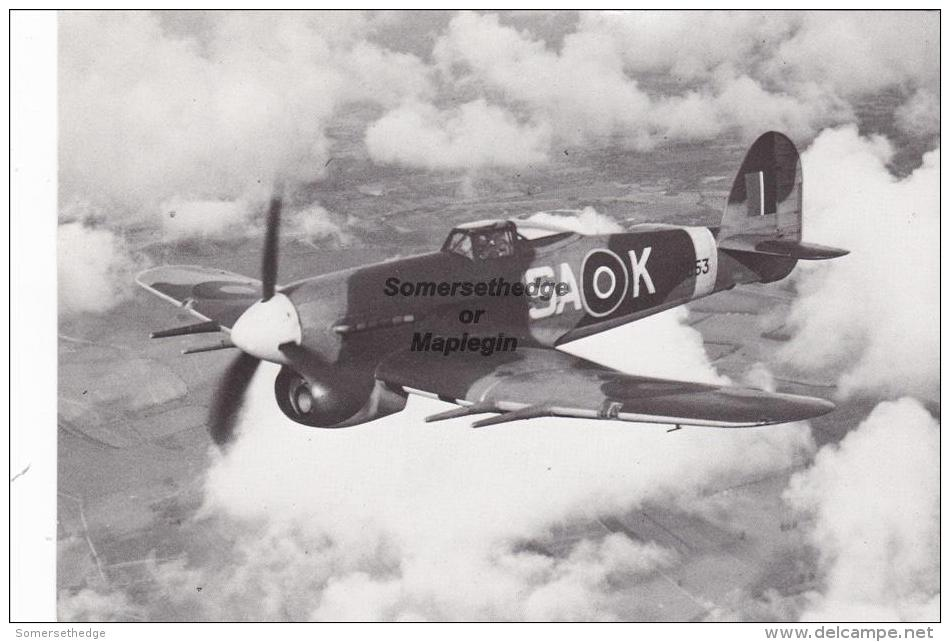 Hawker Typhoon 1B Aircraft Postcard (AM1962) - 1939-1945: 2ème Guerre