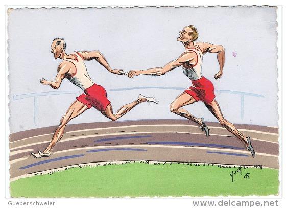 ATH-L5 - CPSM Dessinée ATHLETISME Course De Relais - Athletics