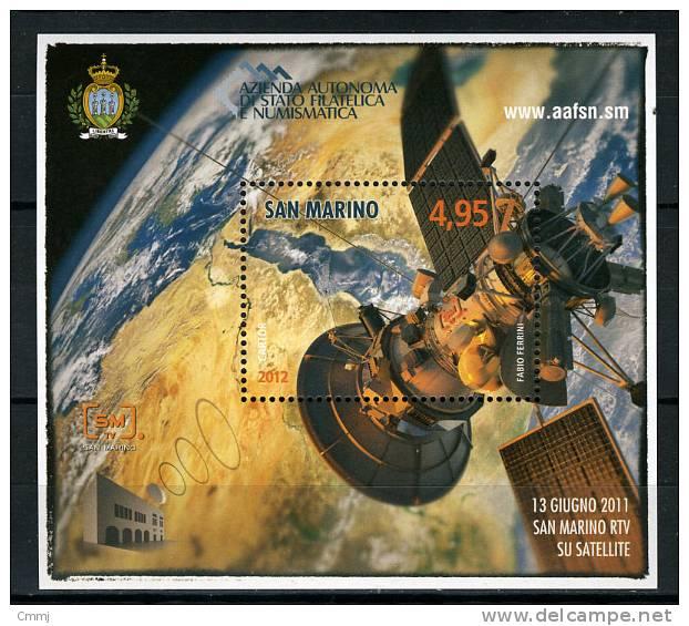 2012 - SAINT-MARIN - SAN MARINO - San Marino RTV Su Satellite - MNH - (**) -  New Mint - Blocchi & Foglietti