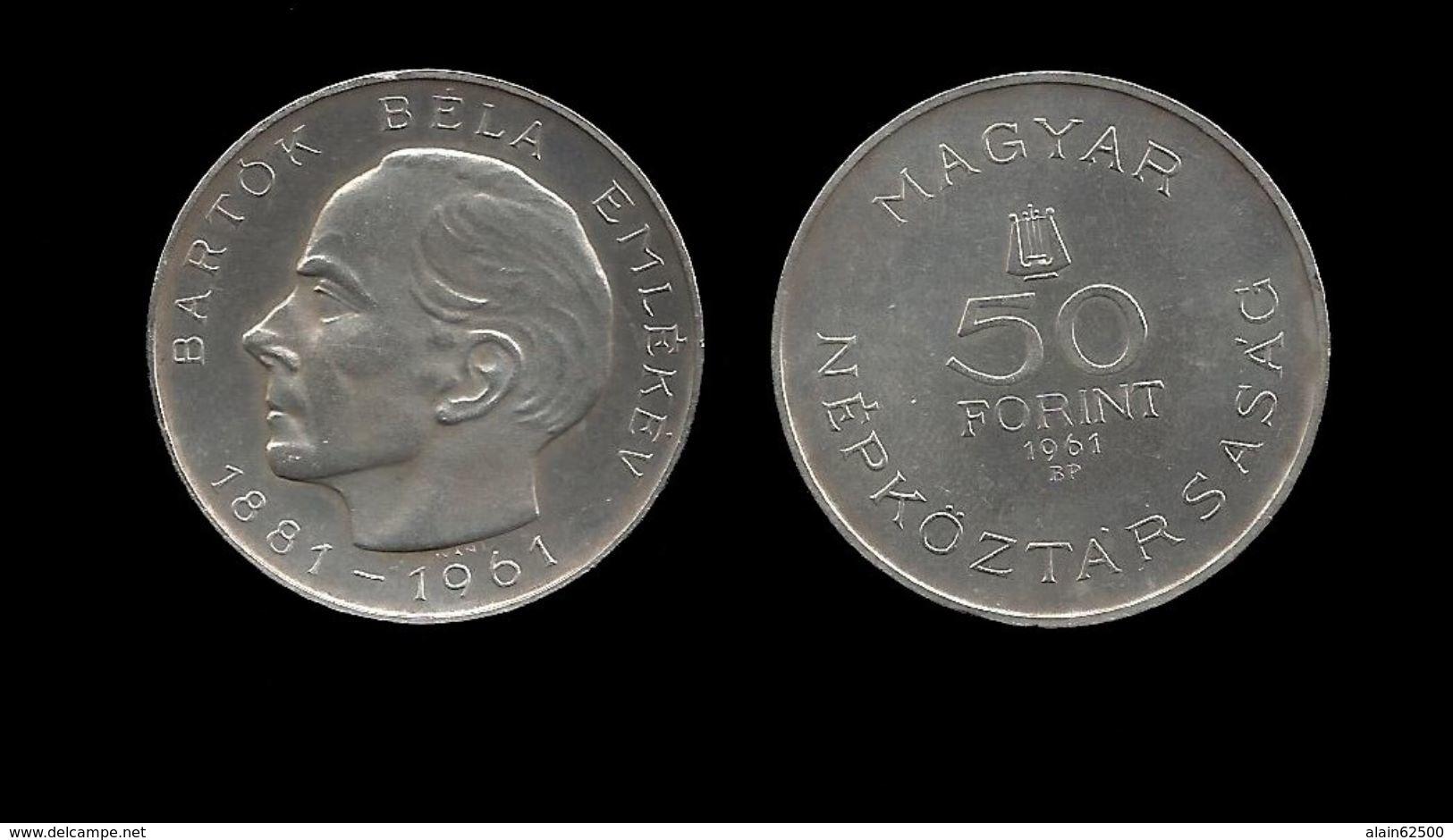 HONGRIE  . Béla BARTOK .   50 FLORINT . 1961 . - Hungary
