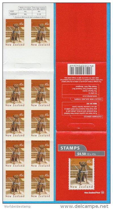 New Zealand Stamp Booklet: 2006 Labrador Retriever Dog, $4.50, NZ137026 - Booklets