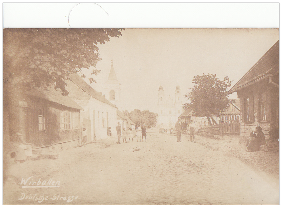 WIRBALLEN-DEUTSCHE STRASSE-CARTE PHOTO - Lituanie