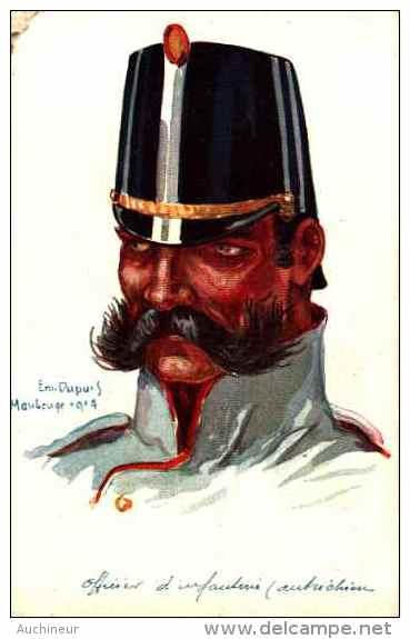 Em Dupuis - Officier D'infanterie (autrichien) - Uniformi
