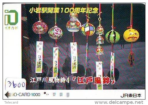 Carte Prépayée  Japon * TRAIN * IO * CARD  (3600) Japan Prepaid Card * ZUG * Karte * TREIN * JR * - Treni