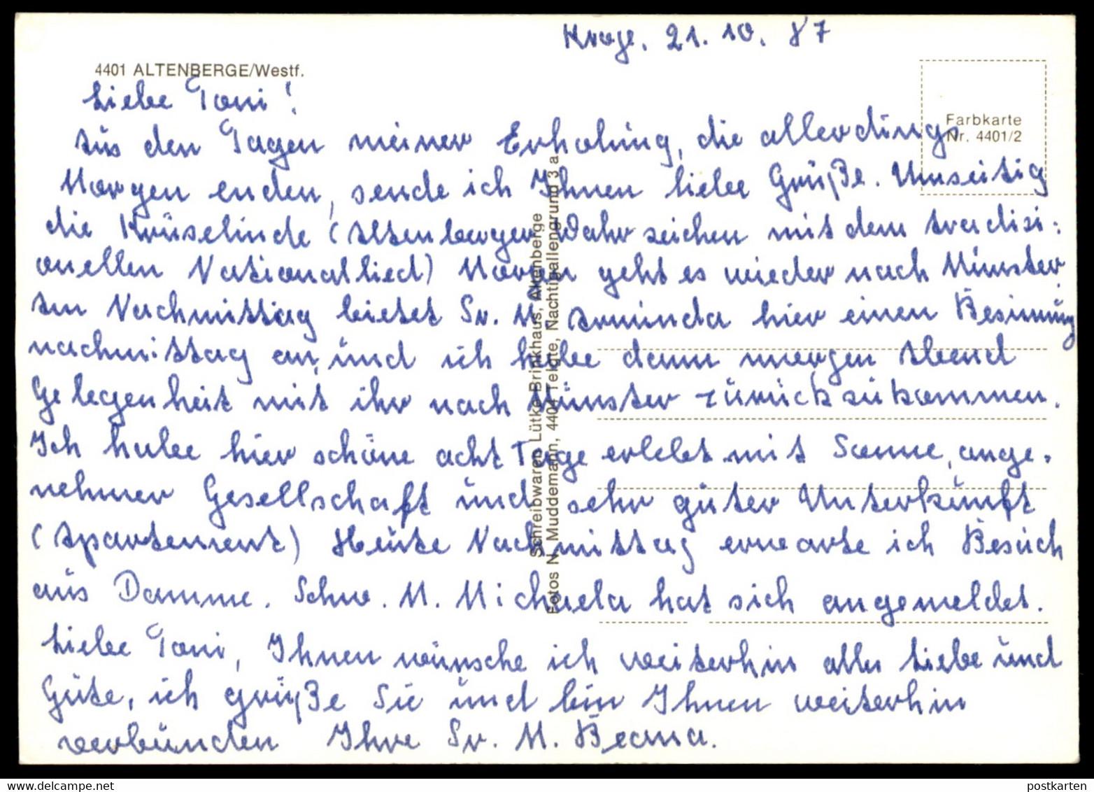POSTKARTE KRÜSELINDE ALTENBERGE LINDE BAUM TREE ARBRE Tilleul Lime Linden Plattdeutsch Dialekt Dialect Dialecte Postcard - Ohne Zuordnung