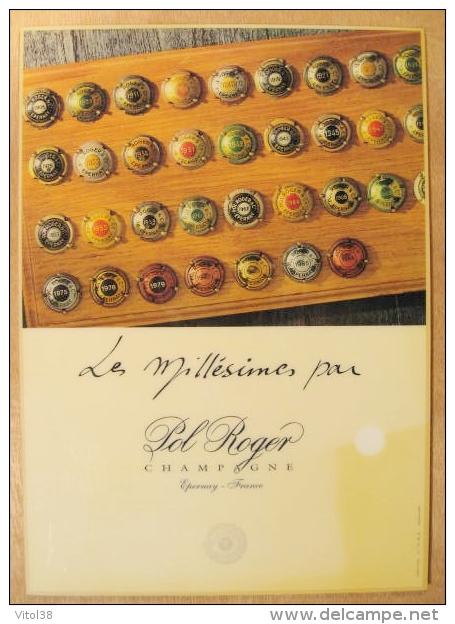PRESENTOIR PLAQUES DE MUSELET LES MILLESIMES PAR POL ROGER CHAMPAGNE EPERNAY FRANCE - Pol Roger