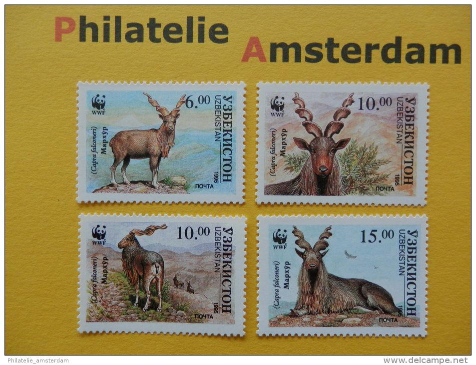 Uzbekistan 1995, WWF FAUNA MARKHOR SCHROEFHOORNGEIT: Mi 61-64, ** - Unused Stamps