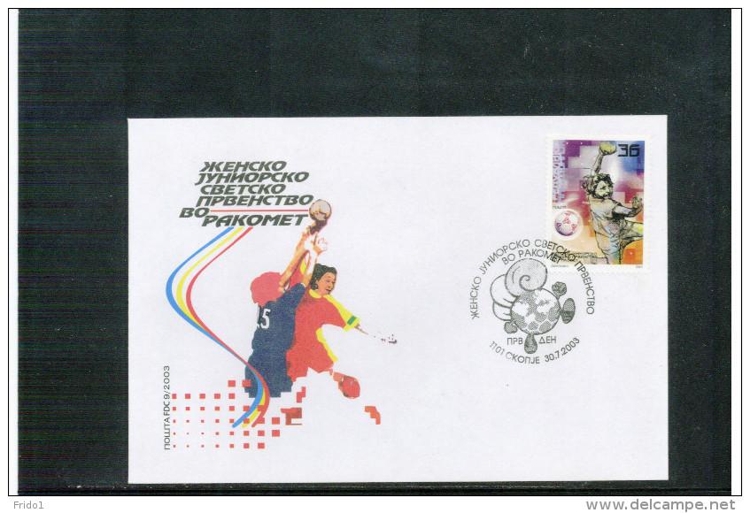 Makedonien / Macedonia 2003 World Junior Handball Championship Satz / Set FDC - Balonmano