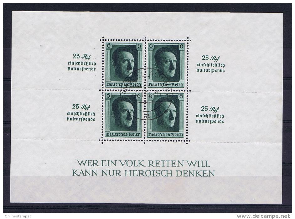 Deutsche Reich 1937 Mi Block 11, Canceled - Deutschland