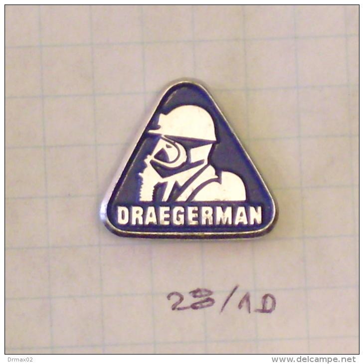 DRAGERMAN Gas Mask, Diving Plongée Tauchen (GERMANY, ALLEMAGNE, DEUTSCHLAND) Fireman, Sapeur-pompier,Feuerwehrm Ann - Feuerwehr