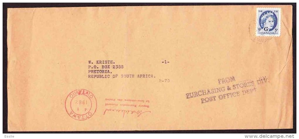 Canada - 1955+ - Official Stamp On Cover - Purchasing And Stores Division Post Office Dept - Deputy Postmaster General - Officials