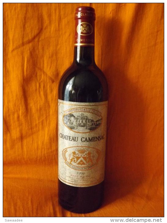 BOUTEILLE - BORDEAUX - GRAND CRU CLASSE - HAUT MEDOC - CHÂTEAU CAMENSAC - 1998 - Vin