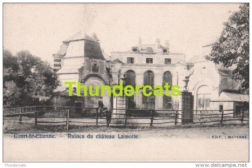 CPA COURT SAINT ETIENNE RUINES DU CHATEAU LAMOTTE EDIT. MATERNE - Court-Saint-Etienne