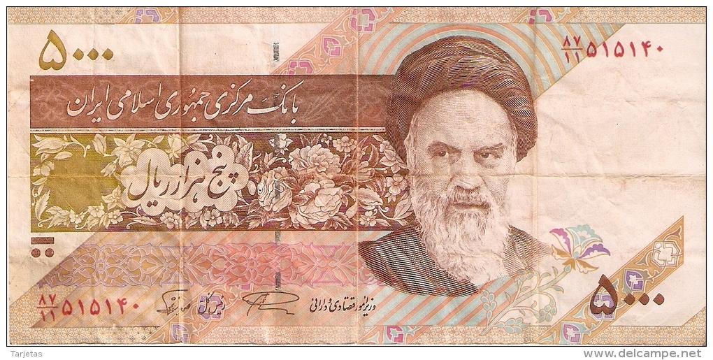 BILLETE DE IRAN DE 5000 RIALS    (BANKNOTE) - Irán