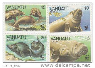 Vanuatu-1988 World Wildlife Fund Dugongs 470-473 MNH - Vanuatu (1980-...)