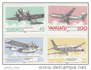 Vanuatu-1989 ESCAP 501-504 MNH - Vanuatu (1980-...)