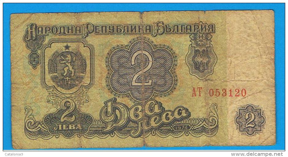BULGARIA - 2 Leva 1974  P-89 - Bulgaria