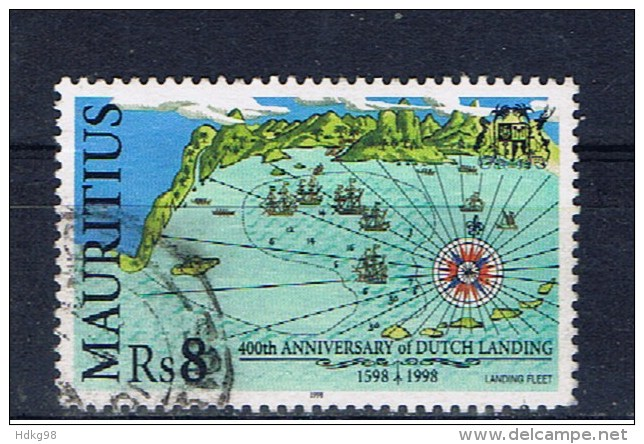 MS+ Mauritius 1998 Mi 864 Seekarte - Mauritius (1968-...)