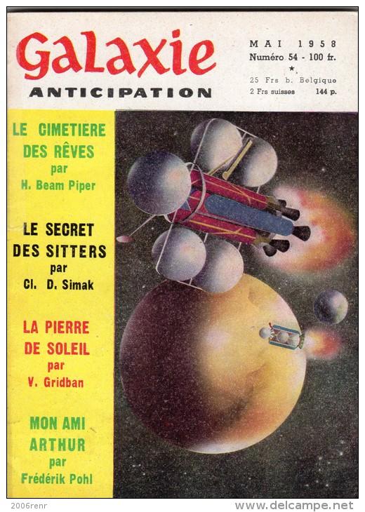GALAXIE ANTICIPATION N° 54 (1ère Série) Mai 1958. Voir Sommaire. - Autres