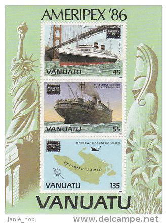 Vanuatu-1986 AMERIPEX'86 Souvenir Sheet 421a MS  MNH - Vanuatu (1980-...)