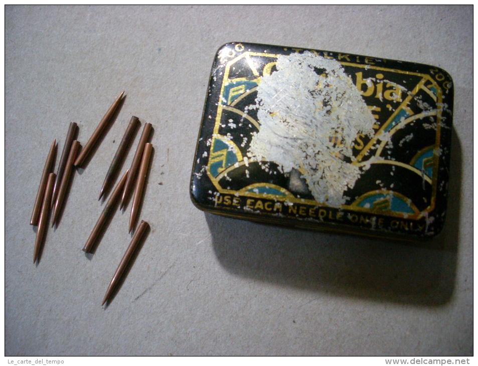 Scatola/scatoletta In Latta Puntine Grammofono. Columbia TALKIE Needles. - Altri Oggetti
