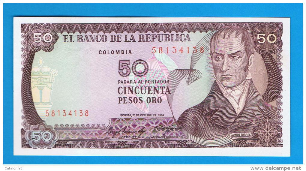 COLOMBIA -  50 Pesos 1984 SC  P-425 - Colombia