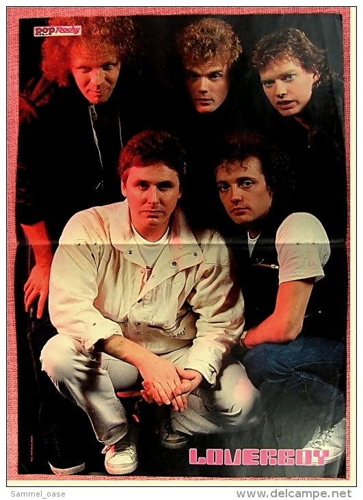 Kleines Poster  -  Gruppe Loverboy  -  Rückseite : Nena  -  Von Pop-Rocky Ca. 1982 - Plakate & Poster