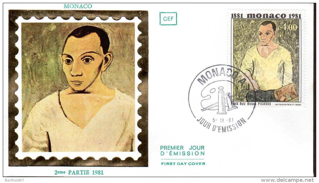 Monaco Fdc (Yv:1293) Pablo Picasso 5-11-81 - FDC
