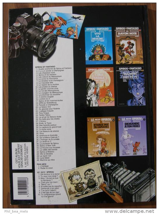 BD - SPIROU ET FANTASIO - DUPUIS 2002 - N°20 LE FAISEUR D´OR - FOURNIER - EDITION SPECIALE PROMO - Spirou Et Fantasio