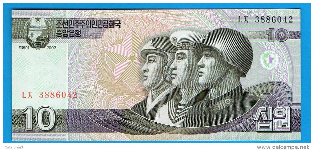 COREA DEL NORTE - 10 Won  2002 SC  P-59 - Corea Del Norte