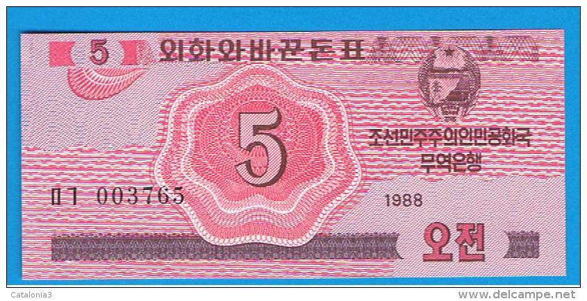COREA DEL NORTE -  5 Chon 1988 SC  P-32 - Corea Del Norte
