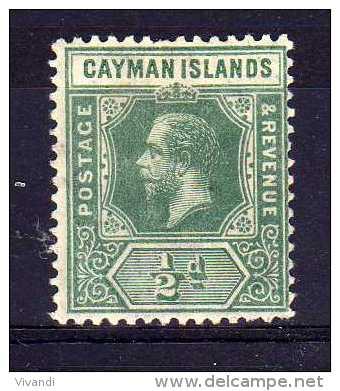 Cayman Islands - 1912 - ½d Definitive (Multiple Crown CA) - MH - Iles Caïmans