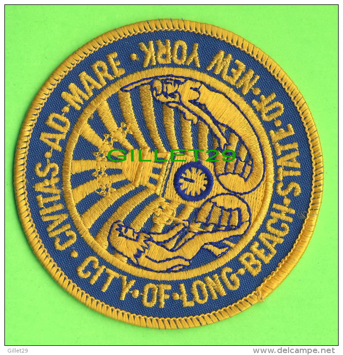 ÉCUSSON EN TISSU - BADGE - CITY OF LONG-BEACH, NEW YORK - CIVITAS-AD-MARE - - Patches