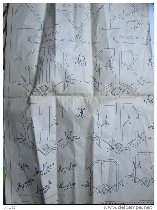 Le Journal Des Brodeuses Journal Professionnel De Broderie Loisirs Créatifs Premiers Juillet 1960 - Punto De Cruz