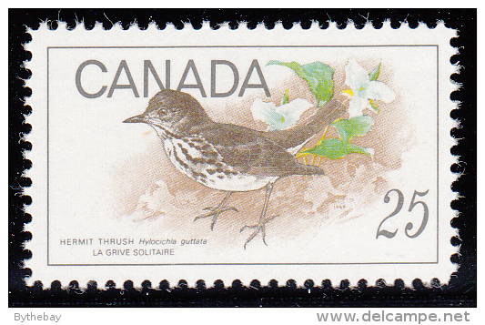 Canada MNH Scott #498 25c Hermit Thrush - Birds - Neufs