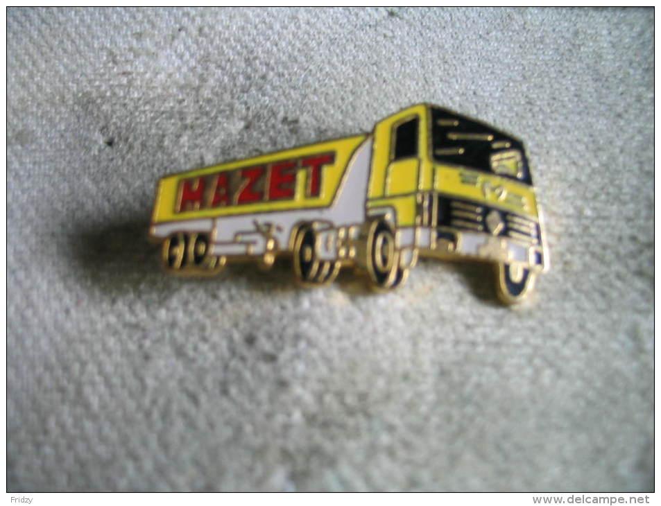 Pin´s Camion Des Transports MAZET - Transportation