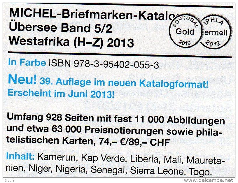 MICHEL West-Africa H-Z Part 5 II Catalogue 2013 New 74€ Kamerun Liberia Mali Senegal Mauretanien Sierra Leone Togo Verde - Other